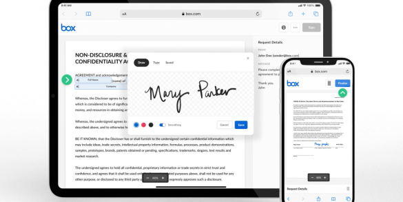 Box launches native e-signature functionality for businesses